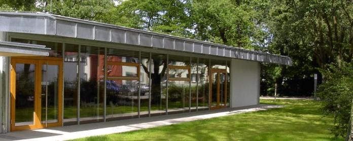Die Mensa der Konrad-Haenisch-Schule von außen. Foto: Archiv