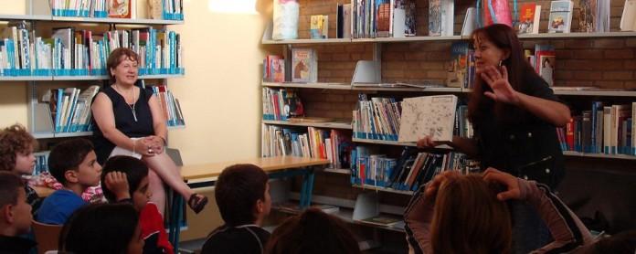 Lesung in der Schulbibliothek. Foto: Archiv