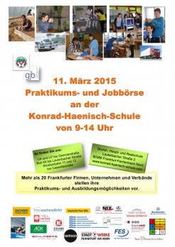 Plakat Praktikums- und Jobbörse 2015